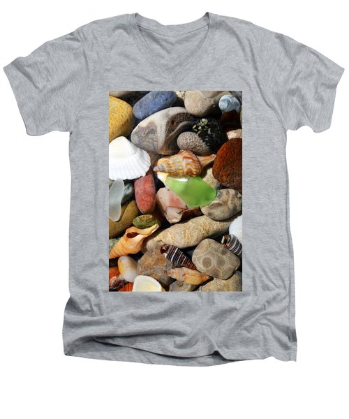 Petoskey Stones L Men's V-Neck T-Shirt