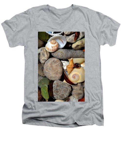 Petoskey Stones Ll Men's V-Neck T-Shirt
