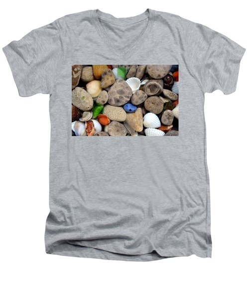 Petoskey Stones Lll Men's V-Neck T-Shirt