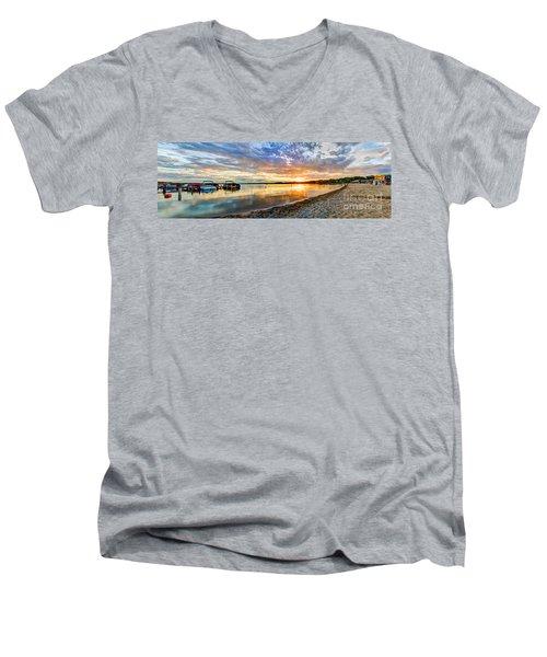 Pewaukee Vibrant Evening  Men's V-Neck T-Shirt