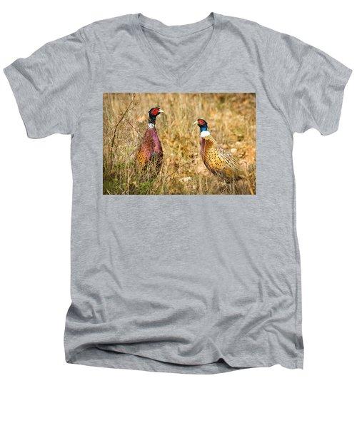 Pheasant Friends Men's V-Neck T-Shirt