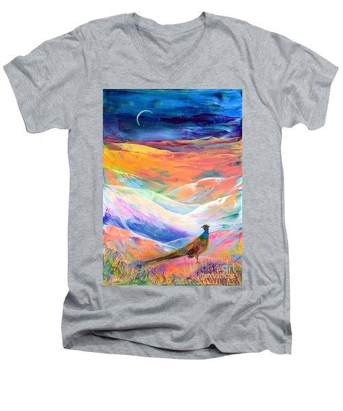 Pheasant Moon Men's V-Neck T-Shirt