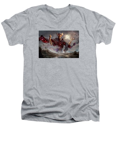 Phenax God Of Deception Men's V-Neck T-Shirt