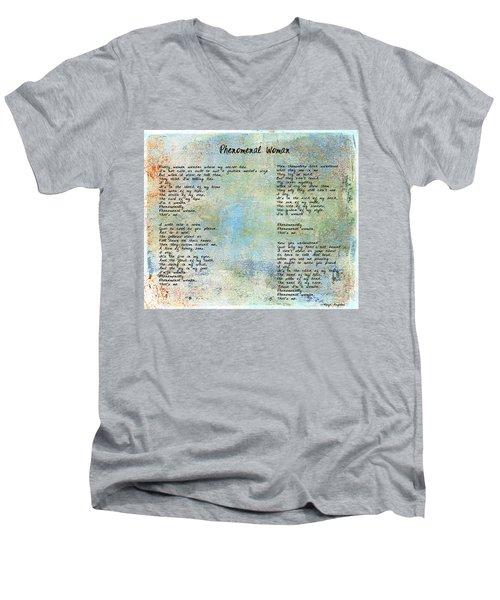 Phenomenal Woman - Blue Rustic Men's V-Neck T-Shirt