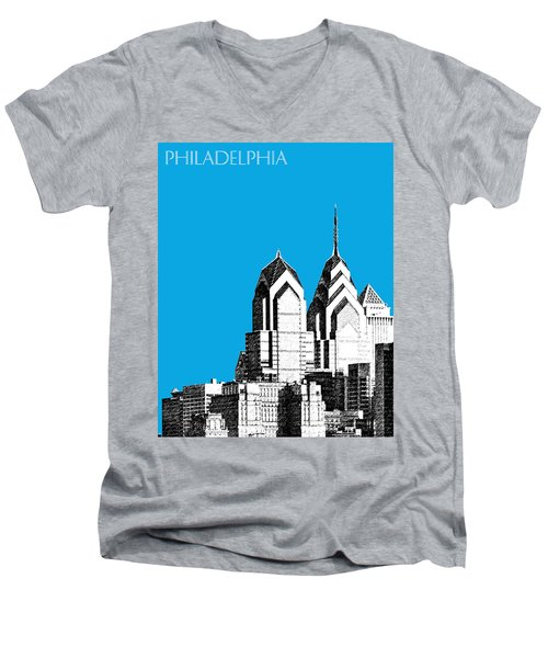 Philadelphia Skyline Liberty Place 1 - Ice Blue Men's V-Neck T-Shirt