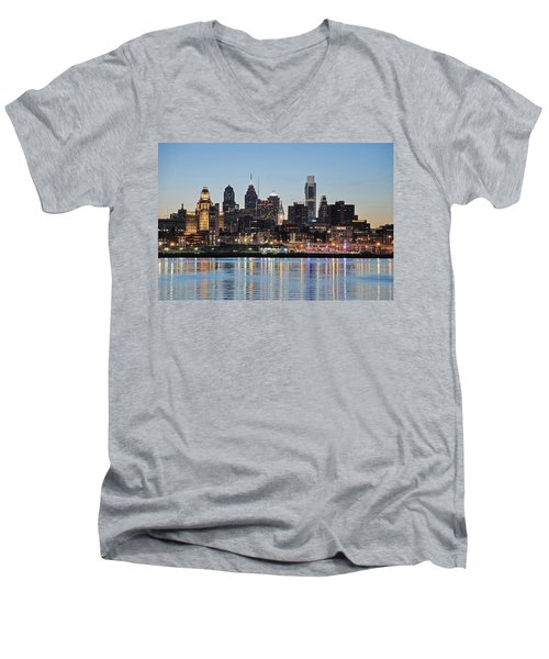 Philly Sunset Men's V-Neck T-Shirt