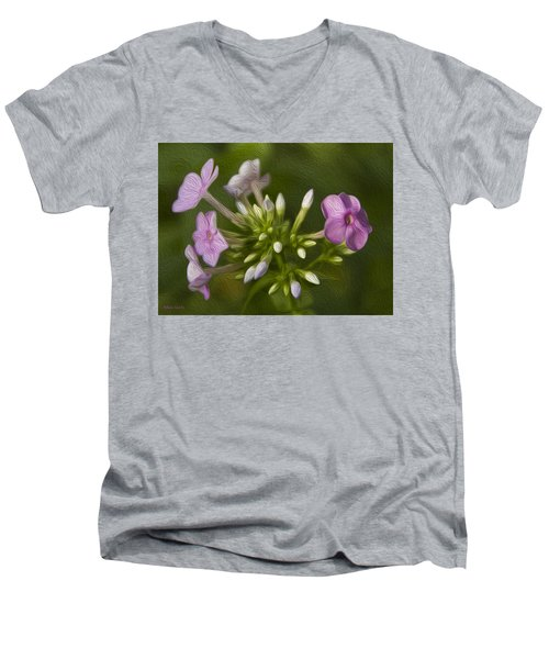 Phlox Men's V-Neck T-Shirt