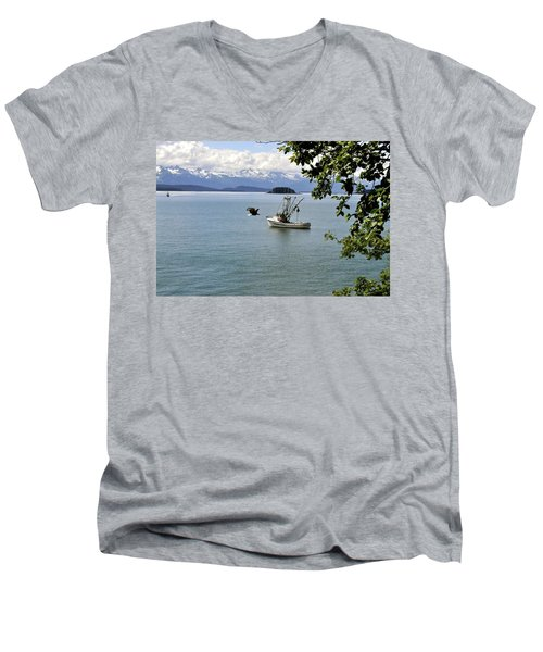 Photo Bomb Men's V-Neck T-Shirt by Cathy Mahnke