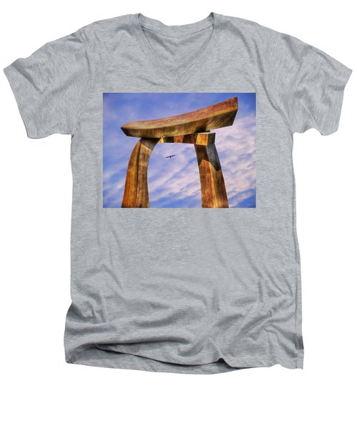 Pi In The Sky Men's V-Neck T-Shirt by Paul Wear