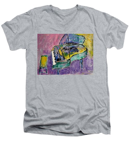 Piano Green Men's V-Neck T-Shirt