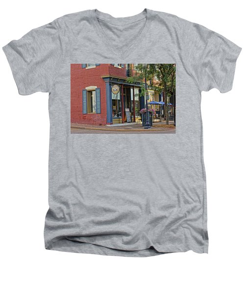 Picasso's N Main St Charles Mo Dsc00900  Men's V-Neck T-Shirt by Greg Kluempers