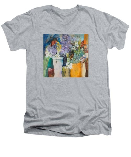 Picture Puzzle Men's V-Neck T-Shirt by Lee Beuther