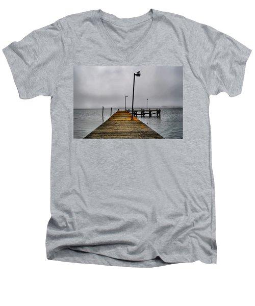 Pier Into The Fog Men's V-Neck T-Shirt