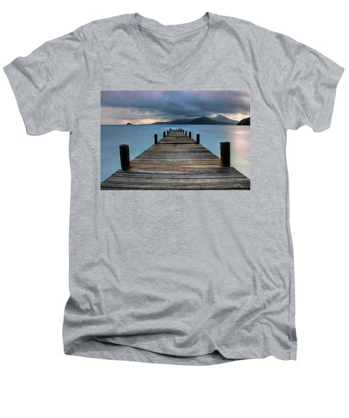 Piering Rain Men's V-Neck T-Shirt