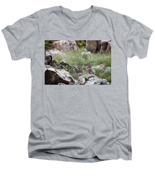 Pika  Men's V-Neck T-Shirt