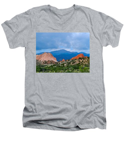 Pikes Peak Men's V-Neck T-Shirt