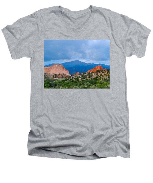 Pikes Peak Men's V-Neck T-Shirt