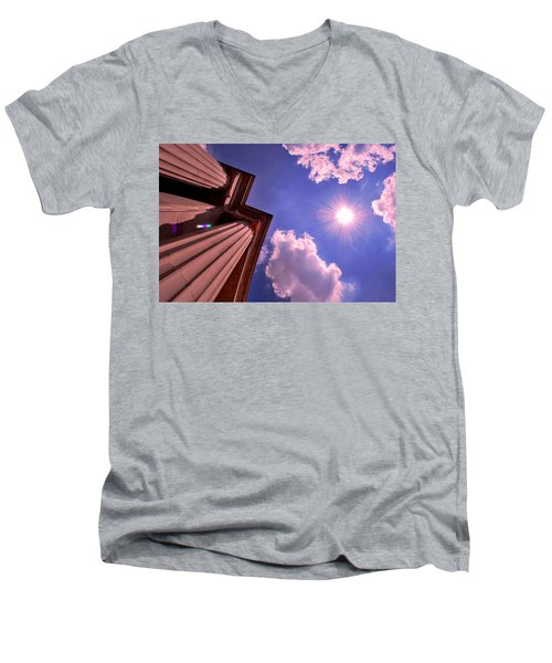 Pillars In The Sun Men's V-Neck T-Shirt by Matt Harang