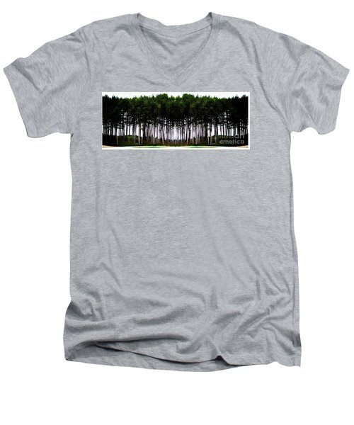 Pine Forest Men's V-Neck T-Shirt