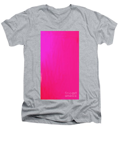 Pink Men's V-Neck T-Shirt