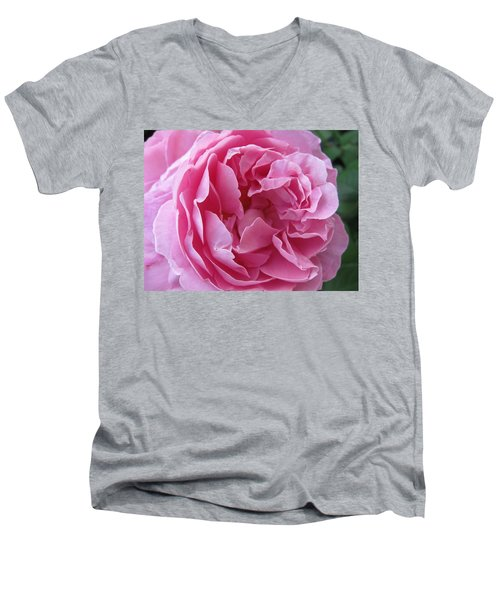 Men's V-Neck T-Shirt featuring the photograph Pink Beauty by Pema Hou