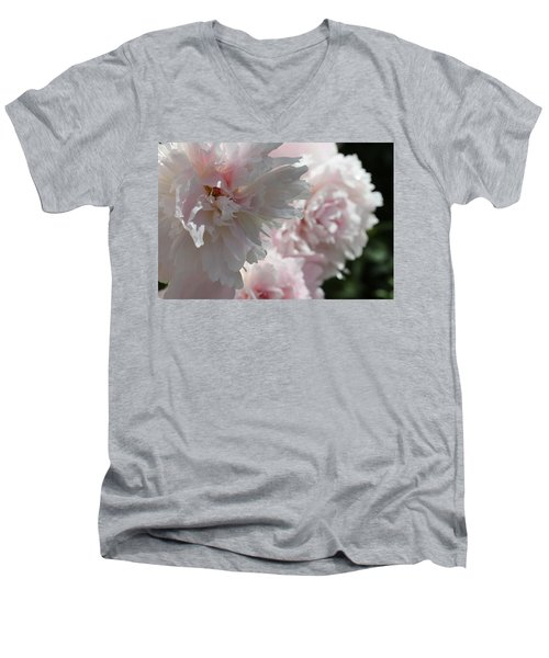 Men's V-Neck T-Shirt featuring the photograph Pink Confection by Ruth Kamenev