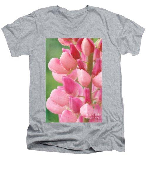 Pink Lupine 974 Men's V-Neck T-Shirt
