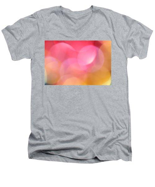 Pink Moon Men's V-Neck T-Shirt