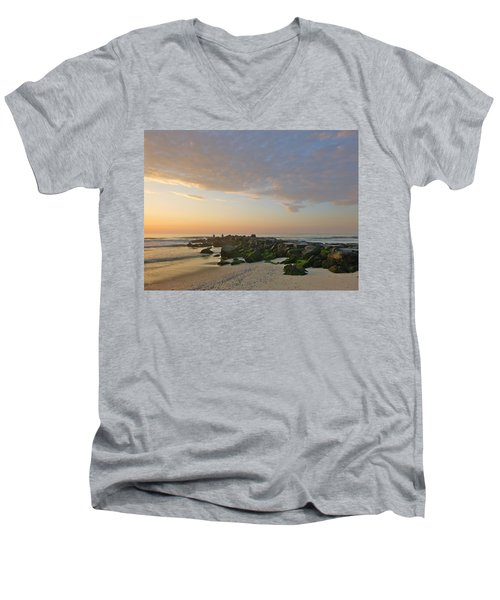 Pink Morning 2 Men's V-Neck T-Shirt