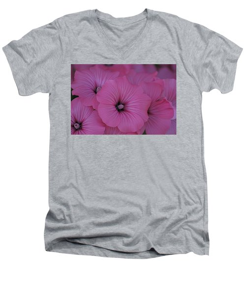 Pink Petunia Men's V-Neck T-Shirt