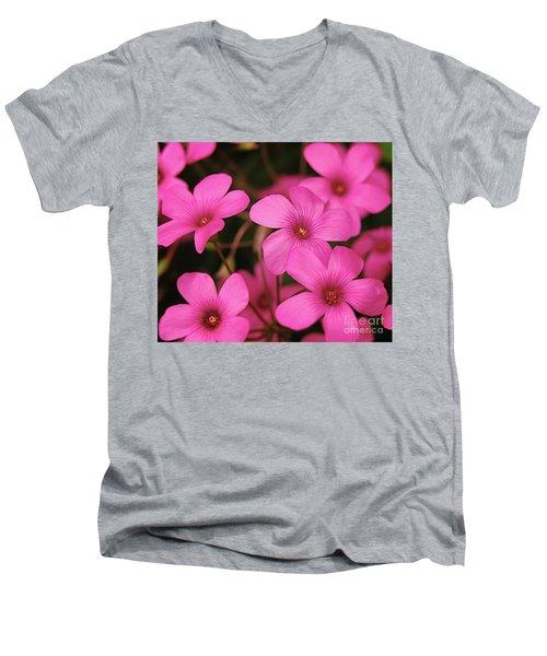 Pink Phlox Men's V-Neck T-Shirt