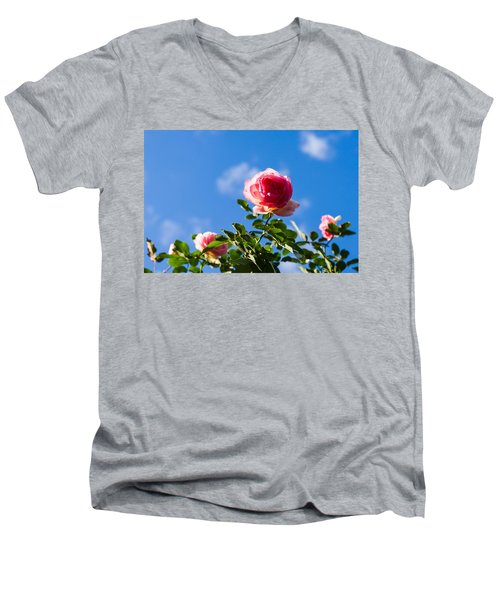Pink Roses - Featured 3 Men's V-Neck T-Shirt