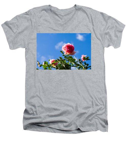Pink Roses - Featured 3 Men's V-Neck T-Shirt