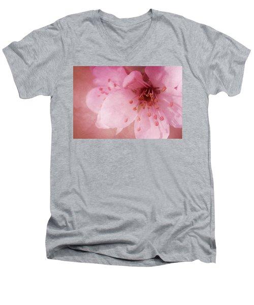 Pink Spring Blossom Men's V-Neck T-Shirt