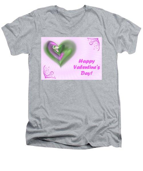 Pink Valentine Men's V-Neck T-Shirt