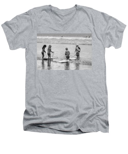 Pint Size Boogie Boarders Men's V-Neck T-Shirt