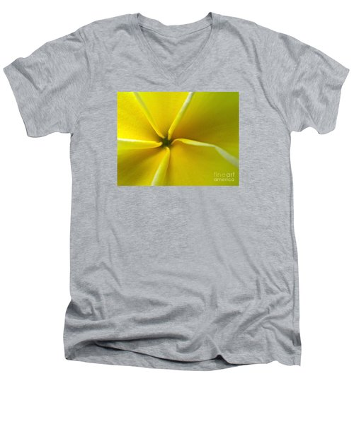Men's V-Neck T-Shirt featuring the photograph Pinwheel Plumeria by Joy Hardee