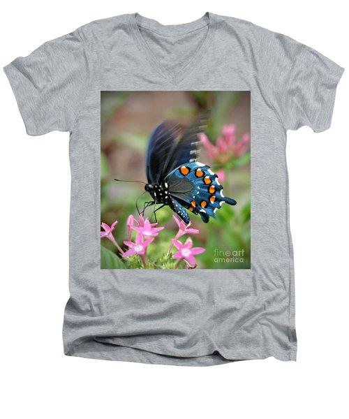 Pipevine Swallowtail Men's V-Neck T-Shirt by Liz Masoner