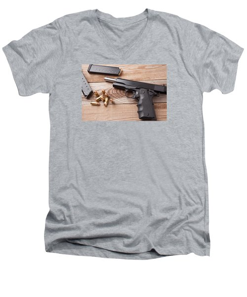 Pistol Men's V-Neck T-Shirt