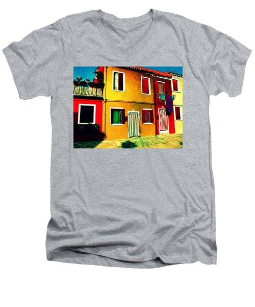 Pittoresco Villaggio Men's V-Neck T-Shirt