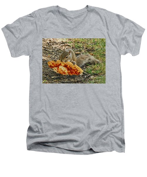 Pizza For  Lunch Men's V-Neck T-Shirt