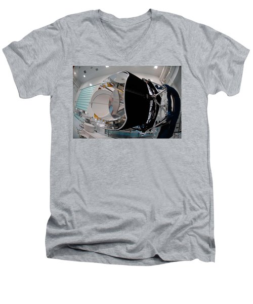 Men's V-Neck T-Shirt featuring the photograph Planck Space Observatory Before Launch by Science Source