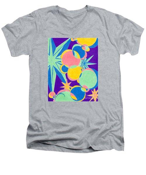 Planets And Stars Men's V-Neck T-Shirt
