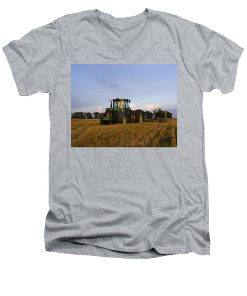 Planting Deere Men's V-Neck T-Shirt