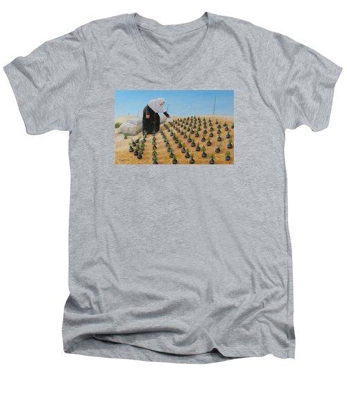 Planting Flowers Men's V-Neck T-Shirt