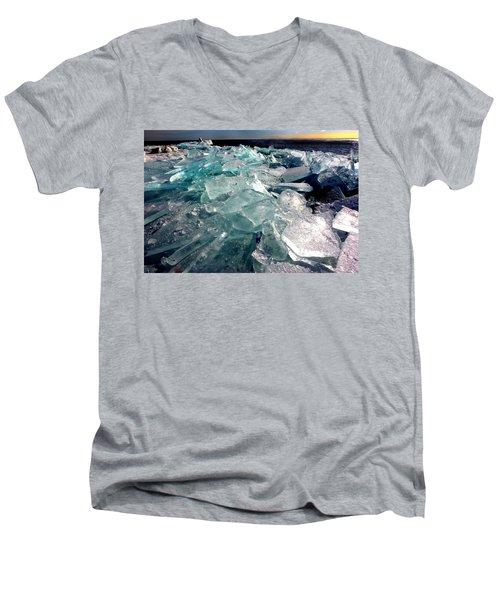 Plate Ice  Men's V-Neck T-Shirt