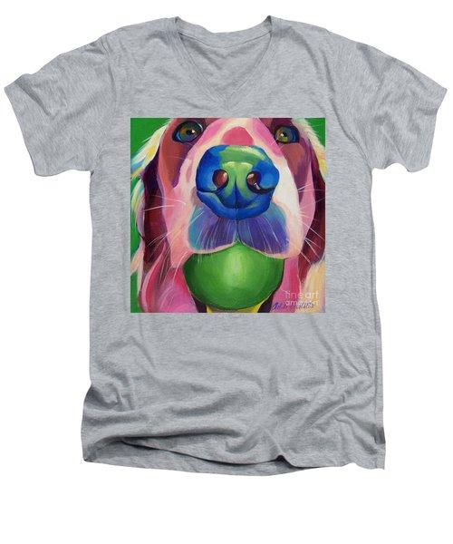 Play Now Men's V-Neck T-Shirt