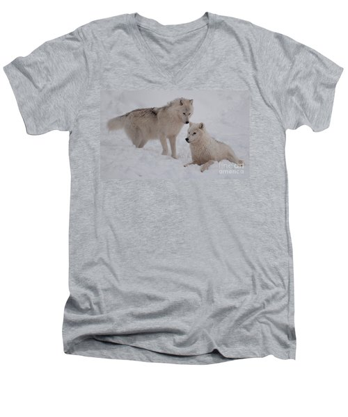 Men's V-Neck T-Shirt featuring the photograph Play Time by Bianca Nadeau
