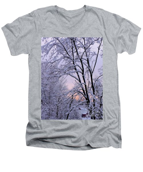 Playhouse Through Snow Men's V-Neck T-Shirt