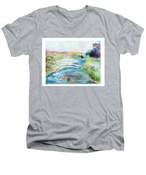 Playin' Hooky Men's V-Neck T-Shirt by C Sitton